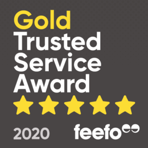 Gold Trusted Feefo Award 2020
